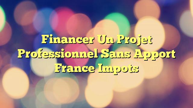 Financer Un Projet Professionnel Sans Apport France Impots