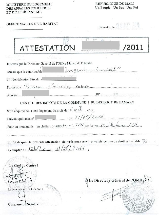 telecharger certificat de cession