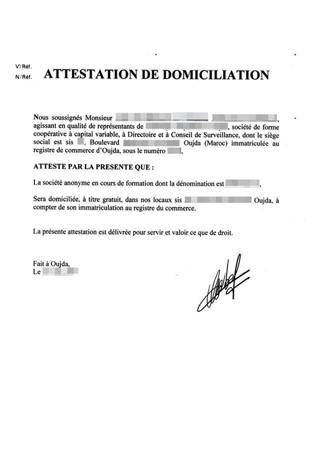 attestation d'hébergement a imprimer gratuit