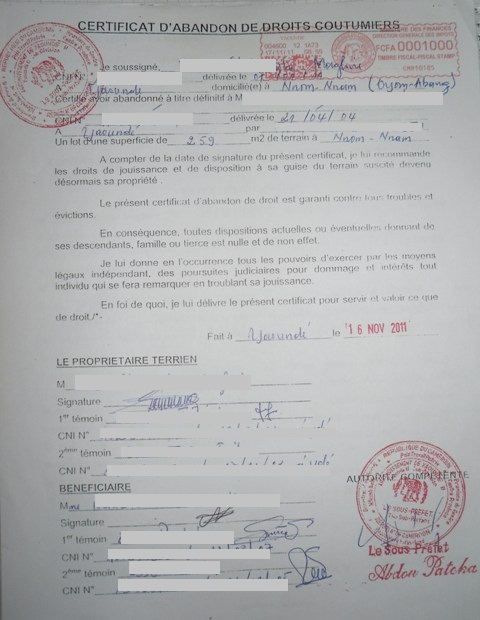 certificat de vente à imprimer