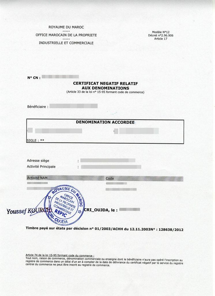 certificats de cession a imprimer